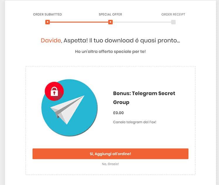 Pre checkout Offerta Cartflow